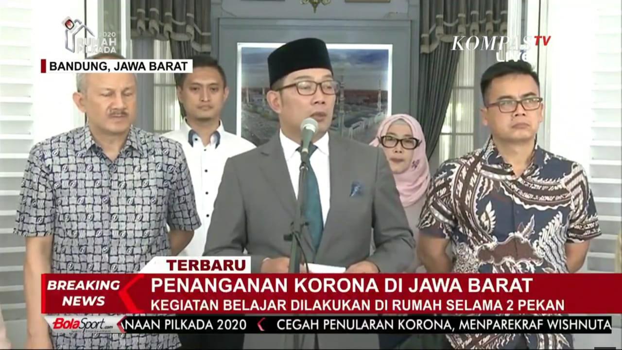 Konperensi Pers Gubernur Jawa Barat - Ridwan Kamil, 15 Maret 2020